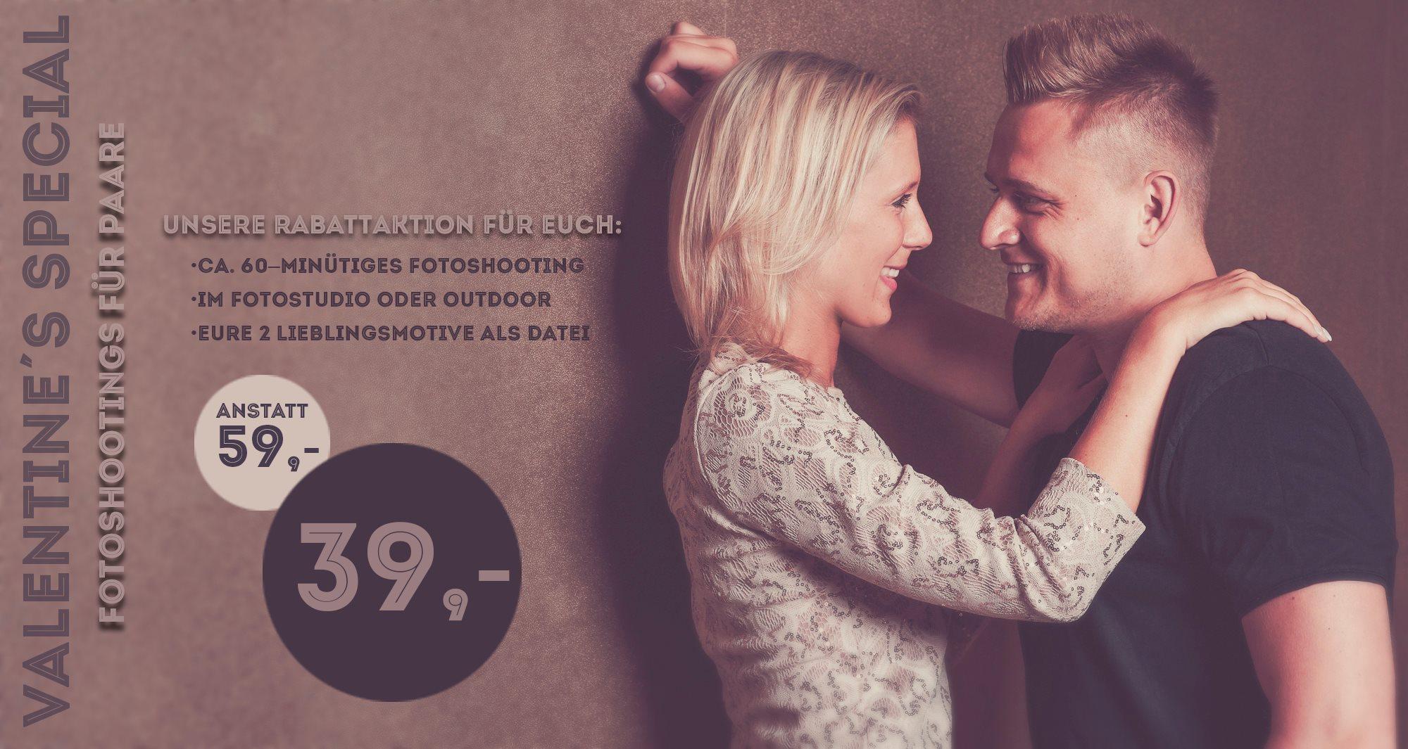 Fotostudio Rabatt Fotoshooting Paare Valentinstag